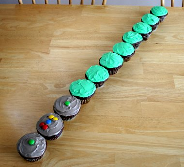 Star Wars Birthday Party Ideas Light Saber Cupcakes