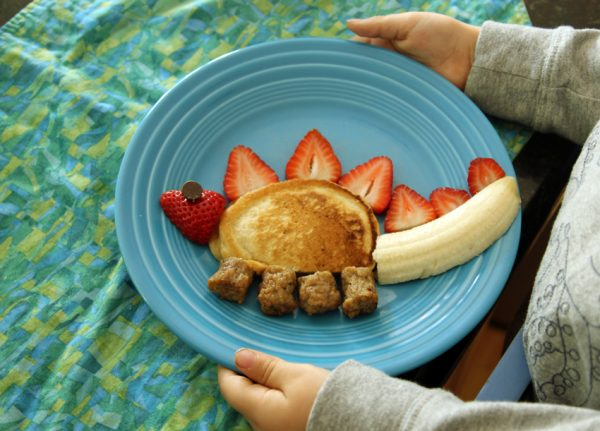 Kids in the kitchen: stegosaurus breakfast