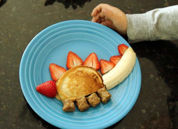 Silly stegosaurus breakfast for kids