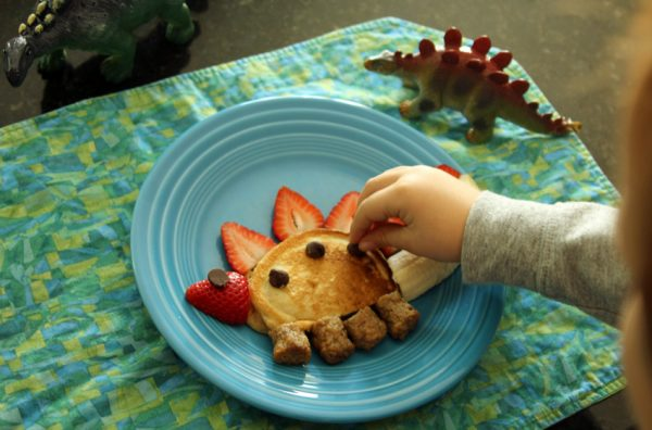 Stegosaurus breakfast - cooking with toddlers