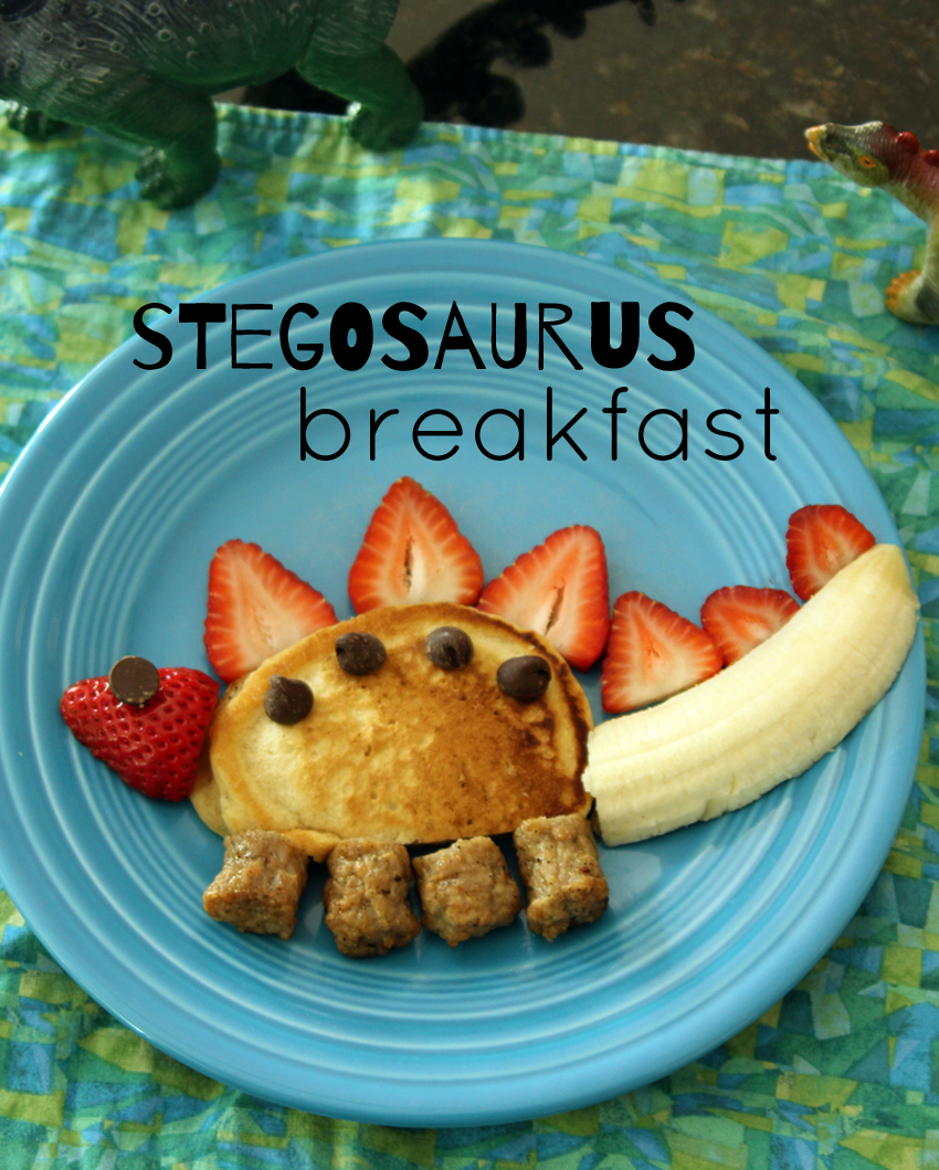 Silly Kid-Friendly Stegosaurus Breakfast | Make and Takes