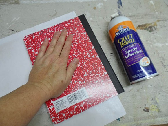 Decorated Composition Notebooks Step 1