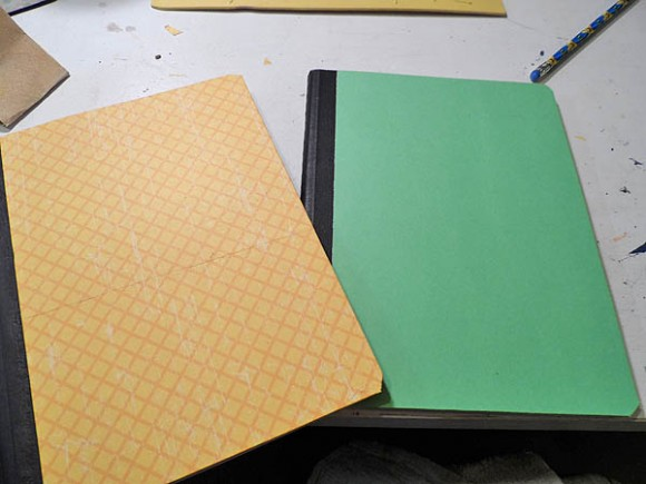 Decorated Composition Notebooks Yellow and Green