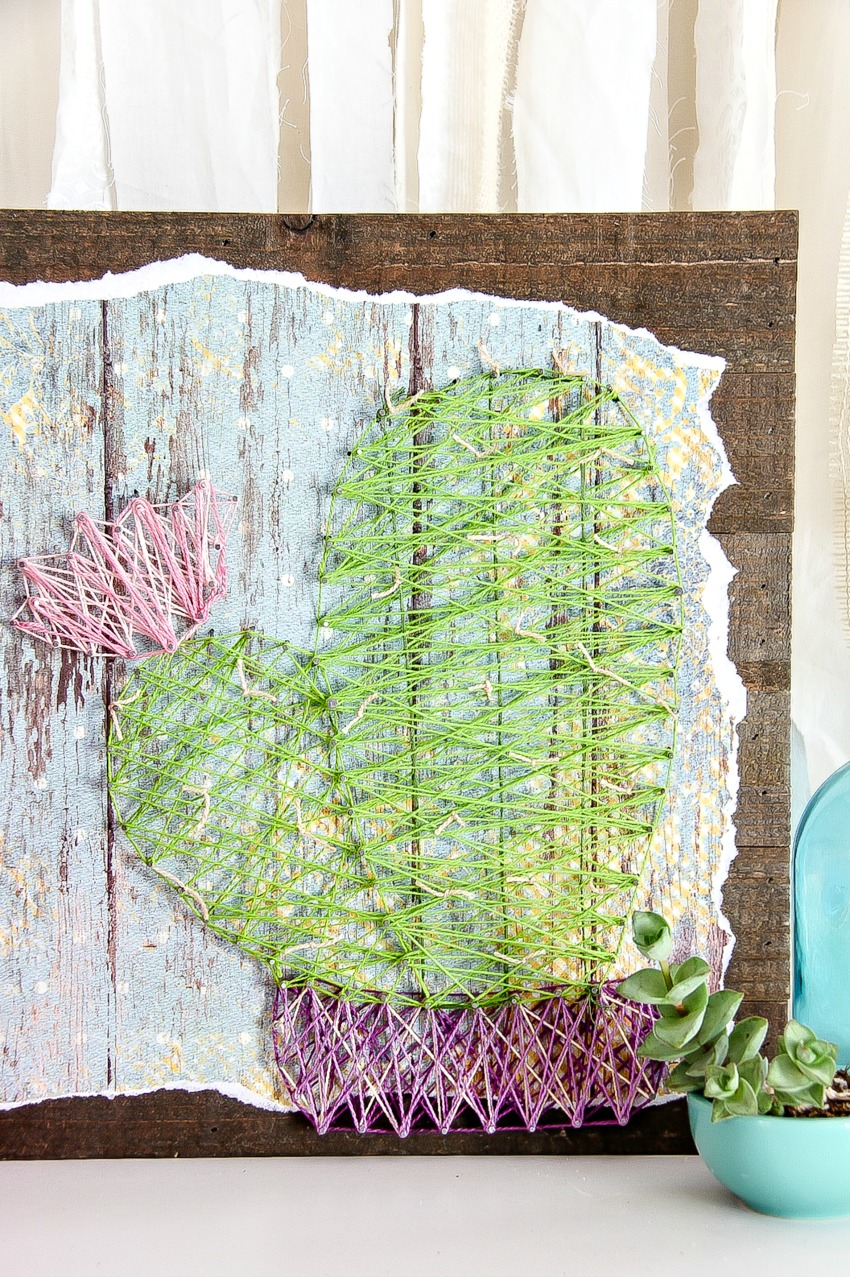Make A Cactus String Art Piece For Your Wall Make And Takes