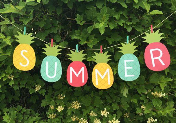 Summer Banner Printable