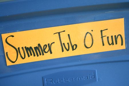 Summer Tub of Crafts