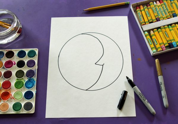 Drawing a sun and moon