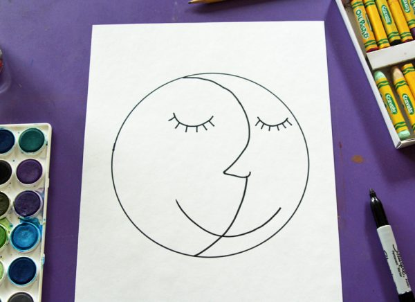 Drawing a simple sun and moon face
