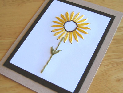 sunflower-card pattern
