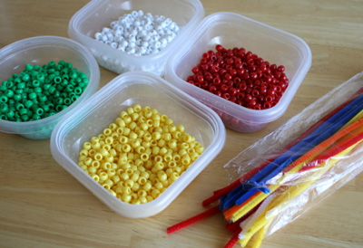Supplies for Handmade Beaded Ornaments