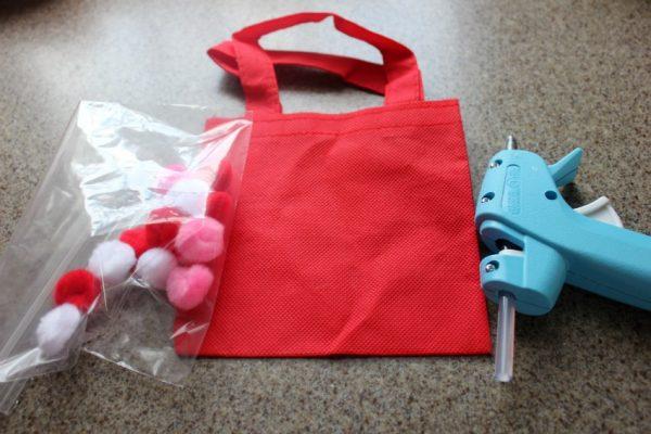 supplies for pom pom bag craft