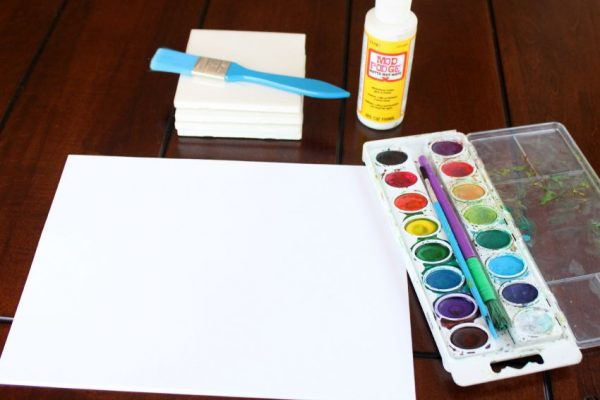 supplies for watercolor coasters