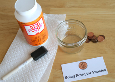What do Potty training and Mod Podge have in common? Well, Marie from