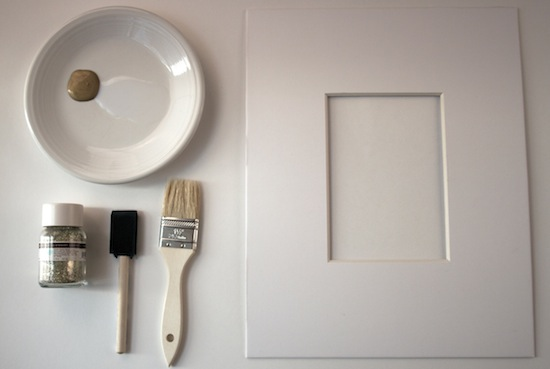 supplies for glitter mat frames