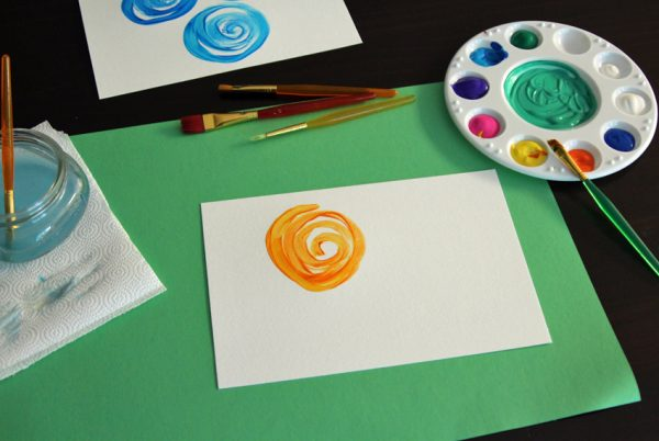 Painting a swirly flower