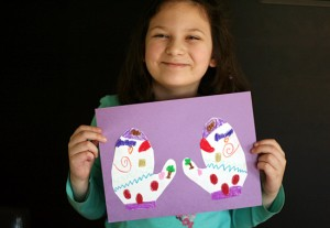 Silly Symmetrical Mitten Art Project