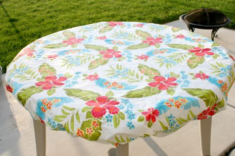 Sewn Table Cloth Hack