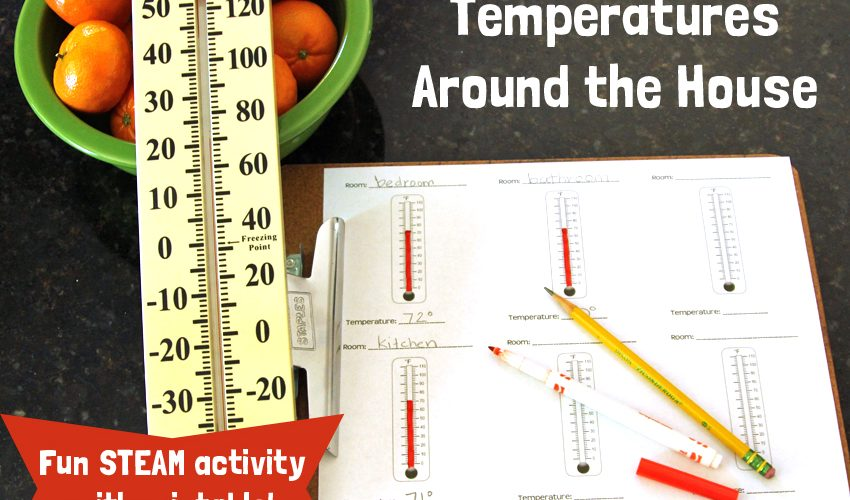 STEAM Activity: Temperatures Around the House