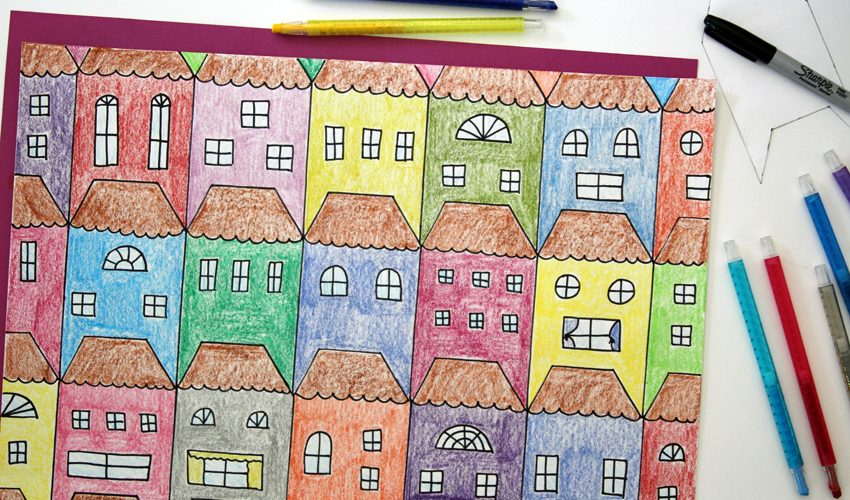 Math Art with Tessellating Houses