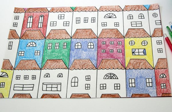 Draw and color tessellations