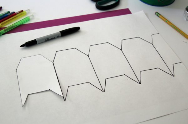 Drawing tessellating houses with a stencil