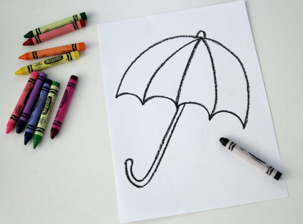 How to draw a simple umbrella