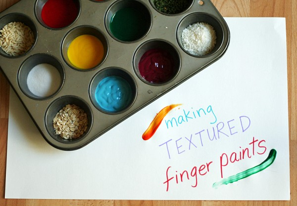 Exploring the sense of touch with textured finger paints