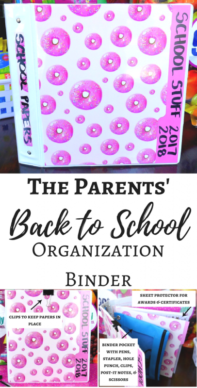 The Parents' Back to School Organization Binder