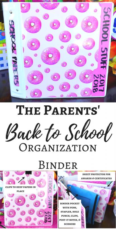 The Parents' Back to School Organization Binder