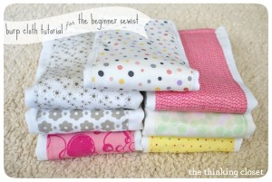 thinking closet burp cloth