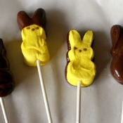 Chocolate Covered Easter Peeps on a Stick