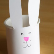 Recycled Easter Bunny Basket
