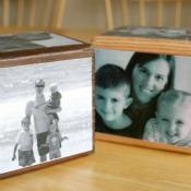 Handmade Mod Podged Photo Cube