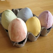 Stuffed Fabric Eggs