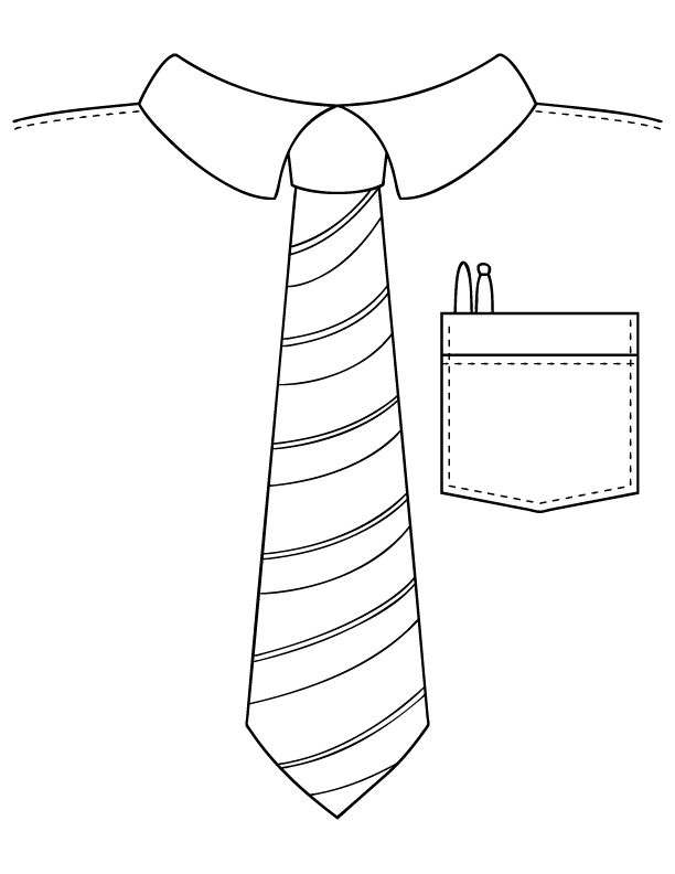 fathers day tie coloring pages - photo#7