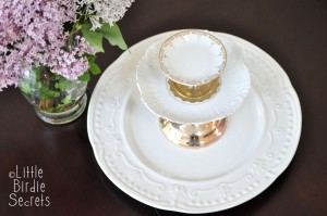 tiered server plate cake stand diy