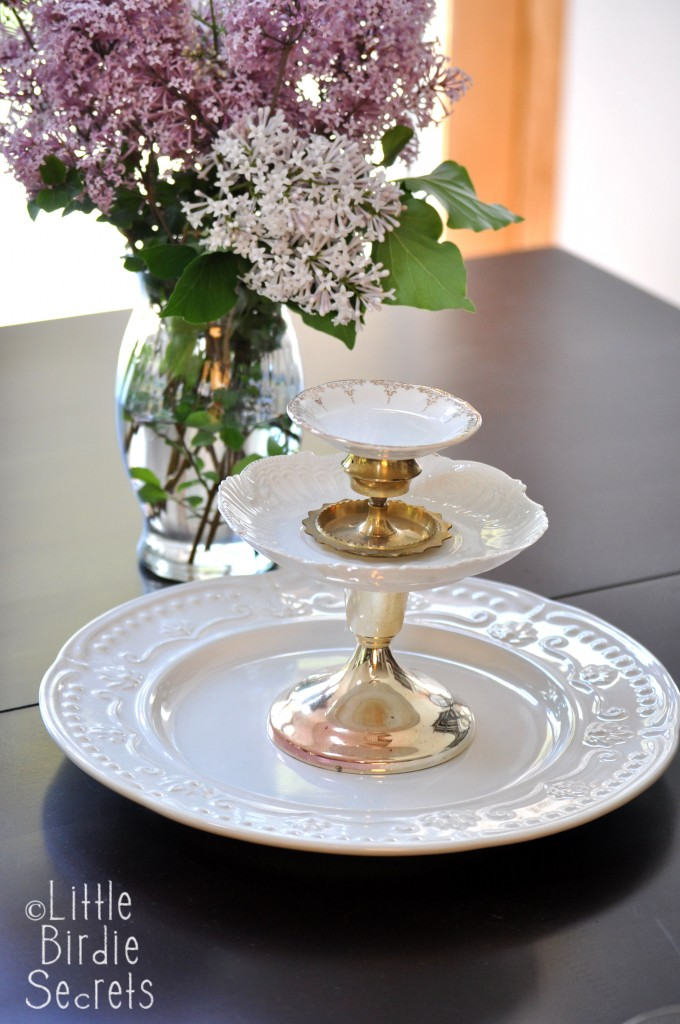 Relatively How To Make a Temporary Tiered Serving Plate | Make and Takes IK28