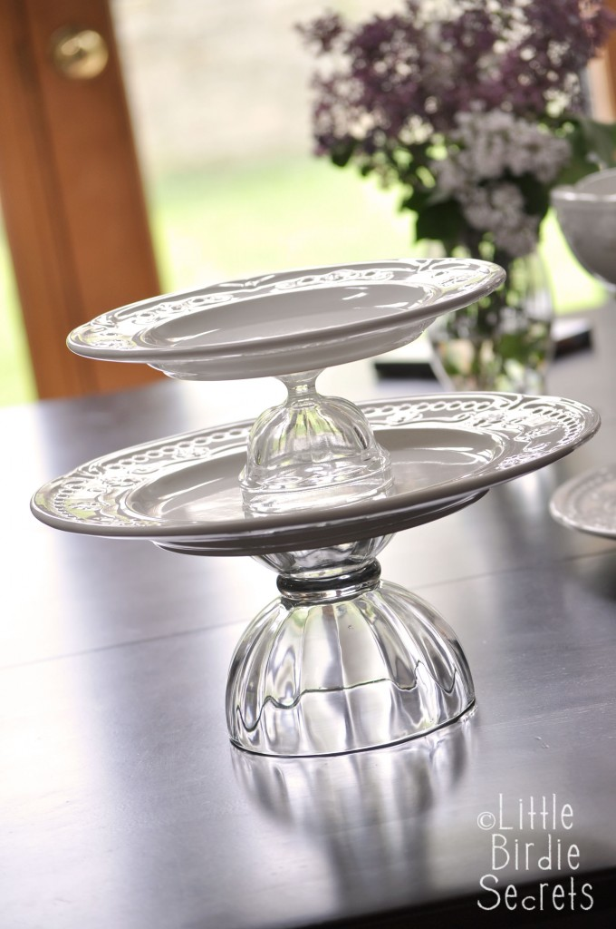 How To Make A Temporary Tiered Serving Plate Make And Takes