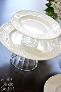 tiered two serving plate how to do it yourself