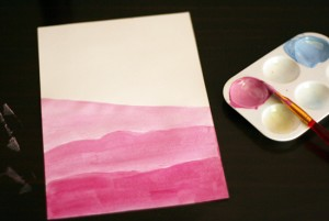 Painting landscapes with tinted colors