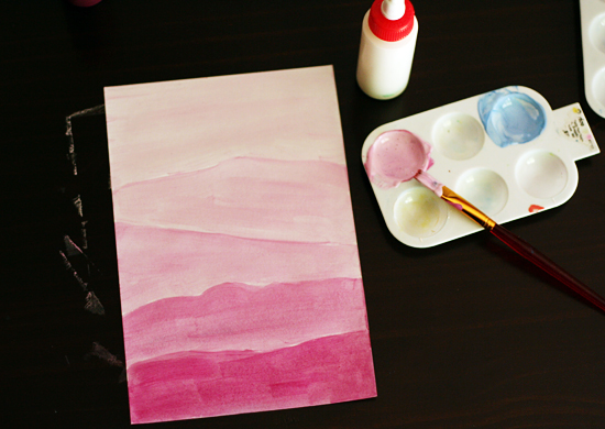 Tinted Paintings For An Ombre Landscape Make And Takes