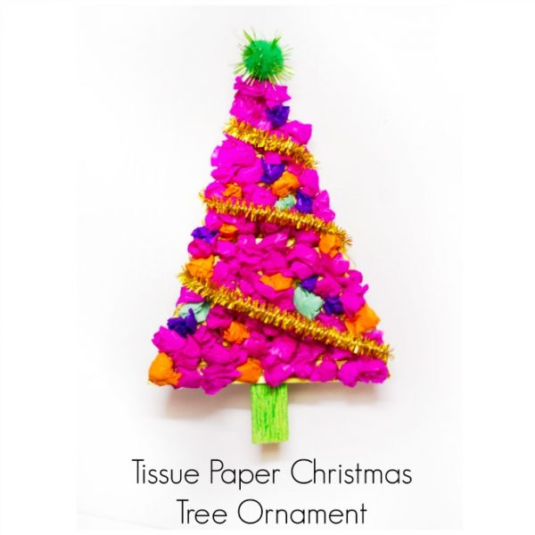 Tissue Paper Tree Ornament
