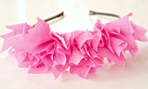 tissue paper headband 2