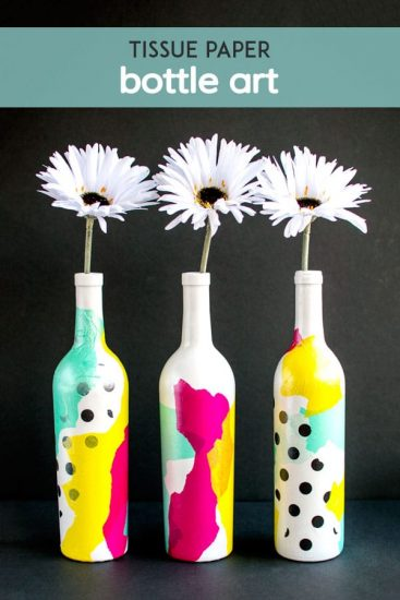 Tissue Paper Bottle Art