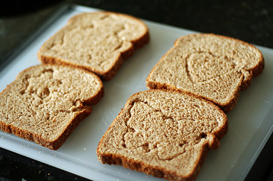 Cookie cutter toast for kids