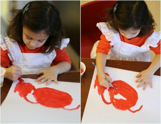 toddler girl painting