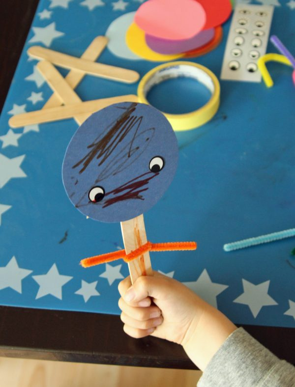 Craft stick and pipe cleaner puppets