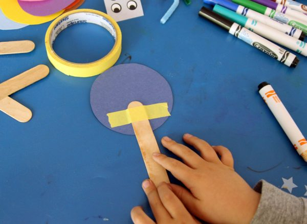 Stick puppet craft for toddlers