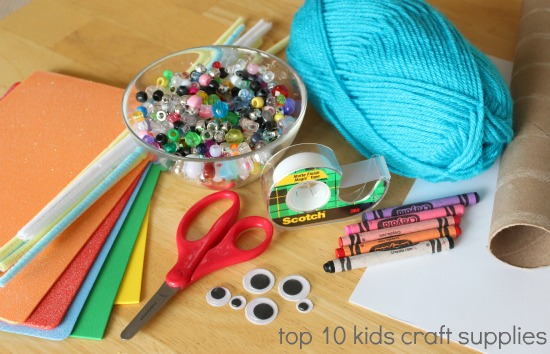 Kids in the craft room basic craft supplies make and takes for Make it take it crafts