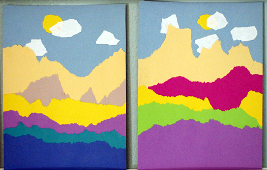 Creating Torn Paper Landscapes Make And Takes